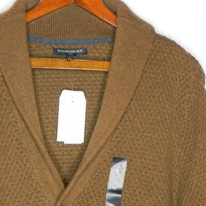 Banana Republic Cardigan Sweater, Brown, XLarge